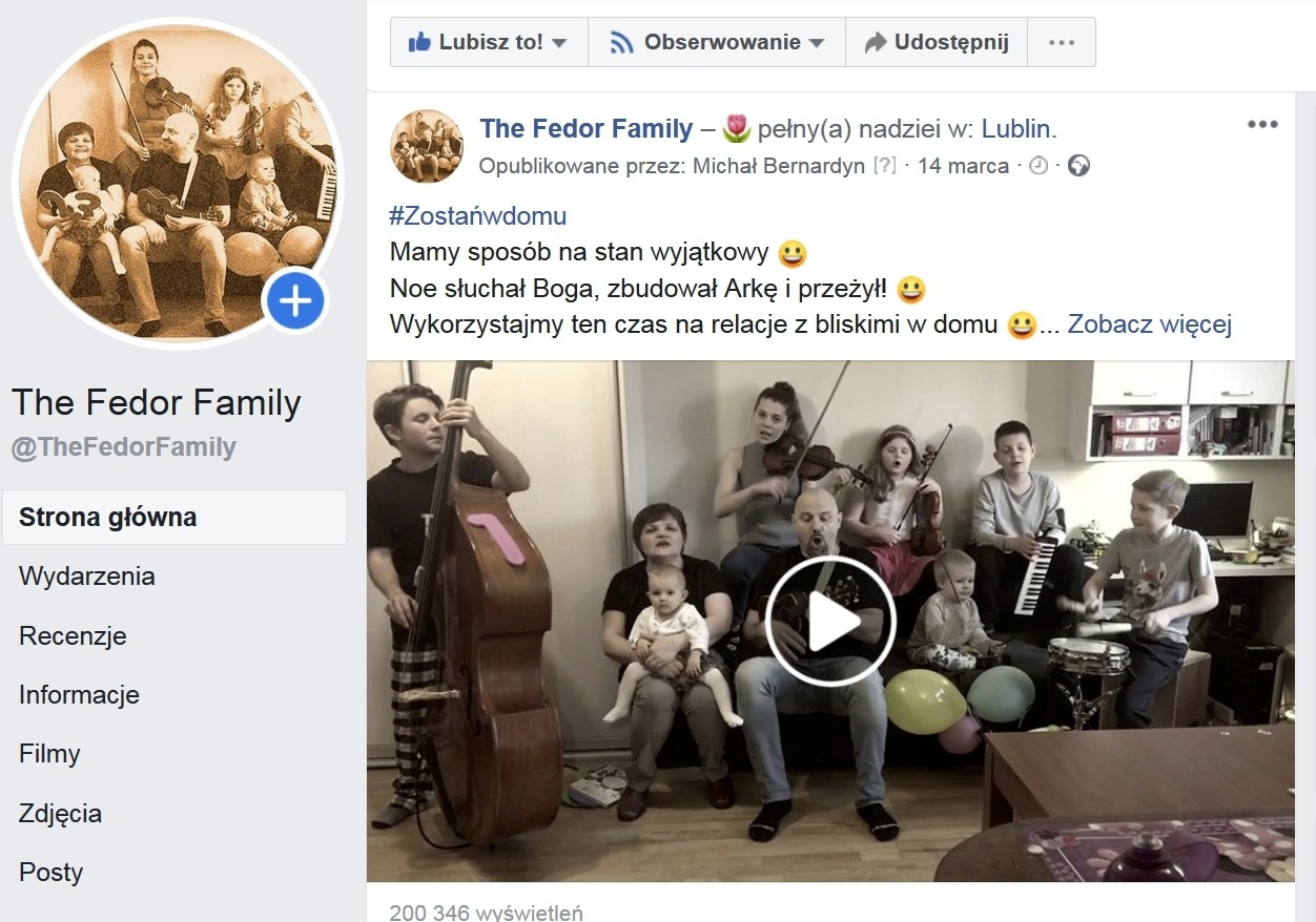The Fedor Family Facebook